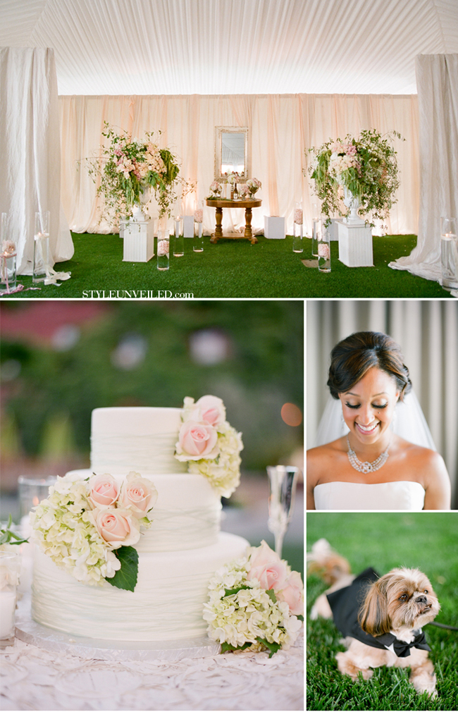Jose Villa Wedding Photographer! Check out Tamera Mowry's Wedding to her husband! Fall in love with this blush wedding all over! #celebritywedding #tameramowry