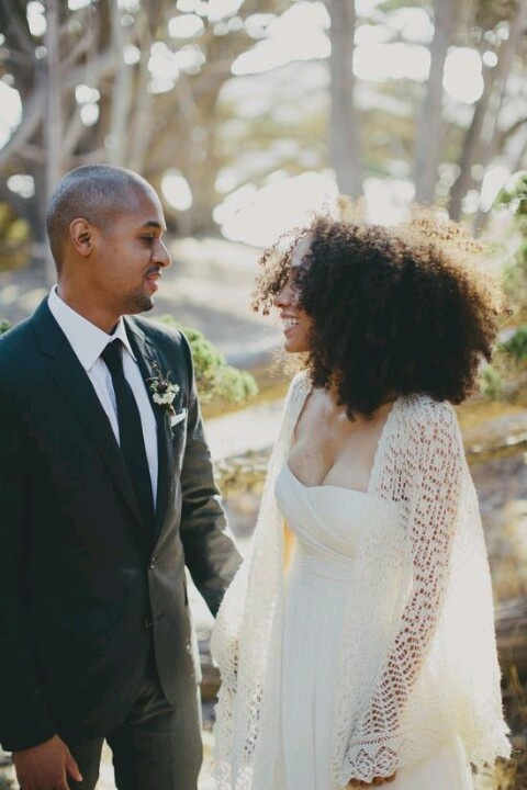 How To Rock Natural Hair For Your Wedding Day And Look On Point