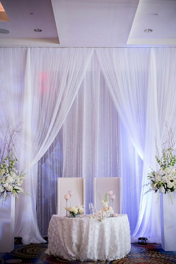 White wedding backdrop ideas. Elegant sweetheart table ideas. romantic sweetheart table ideas for your wedding. Stunning Reasons to Have a Sweetheart Table. Sweetheart tables for your wedding.elegant wedding decorations receptions ideas #weddingdecorations #elegantwedding
