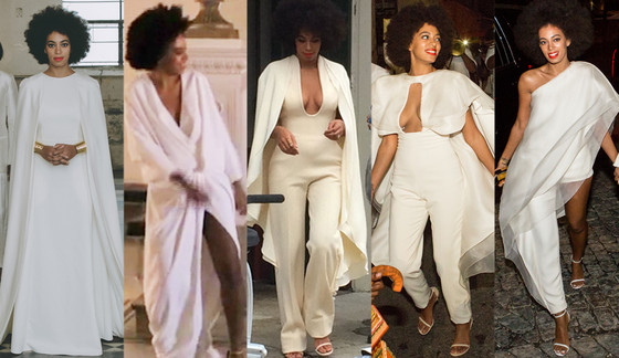 Solange's 5 outfits