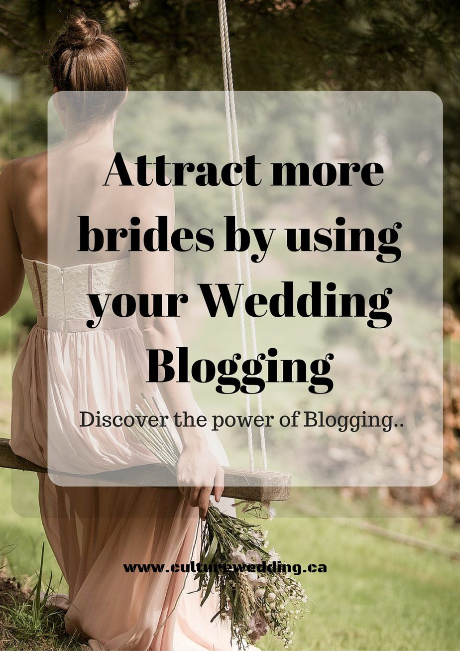 Book more brides using your Wedding Blog