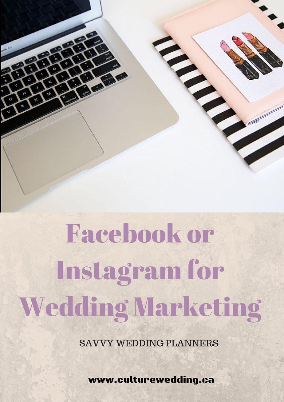 Facebook or instagram for wedding marketing
