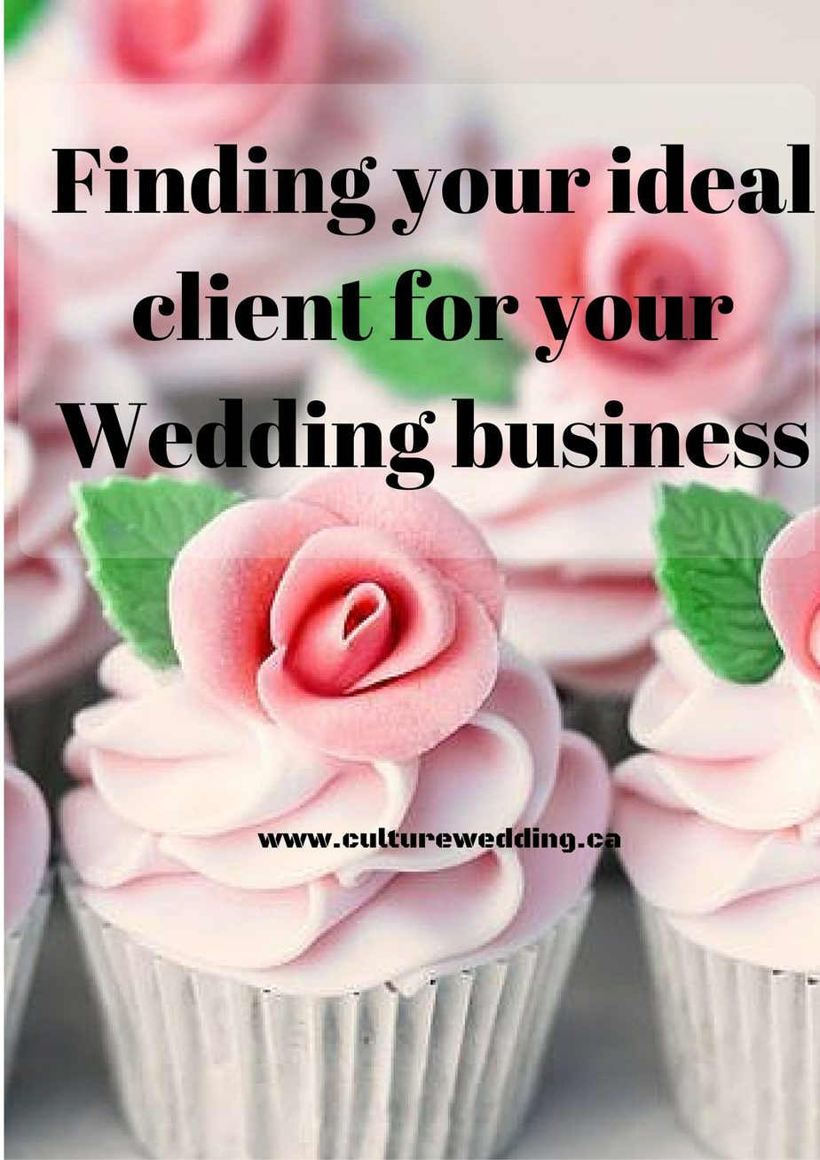 Finding your ideal client for your Wedding business