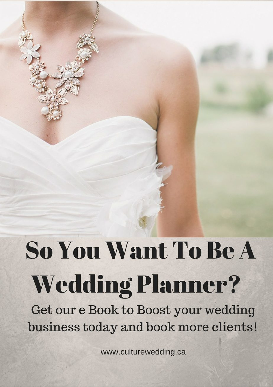 So you want to be a wedding Planner