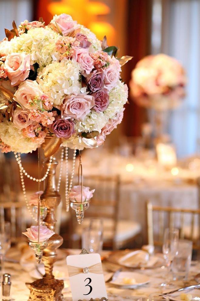 Gorgeous wedding centrepieces