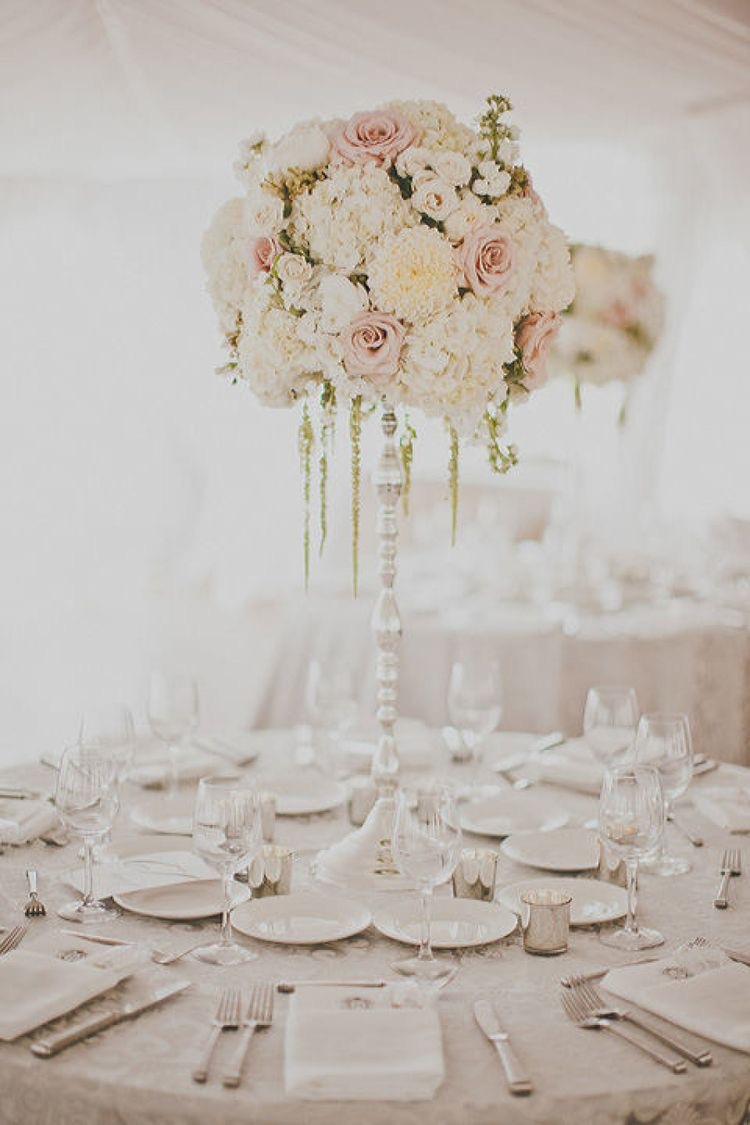 While and blush wedding inspiration
