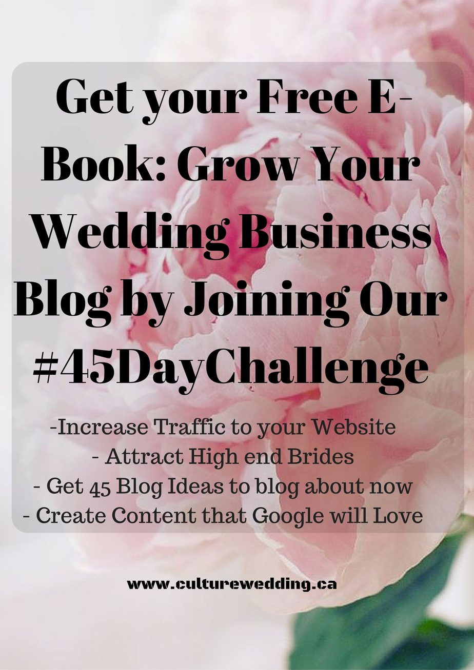 Free E- Book Grow Your Wedding Blog