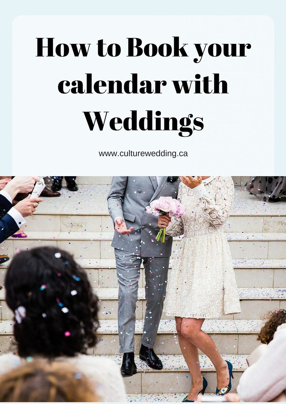 How to Book your calendar with Weddings