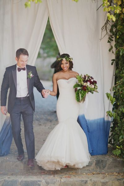 Interracial weddings that show love is bling