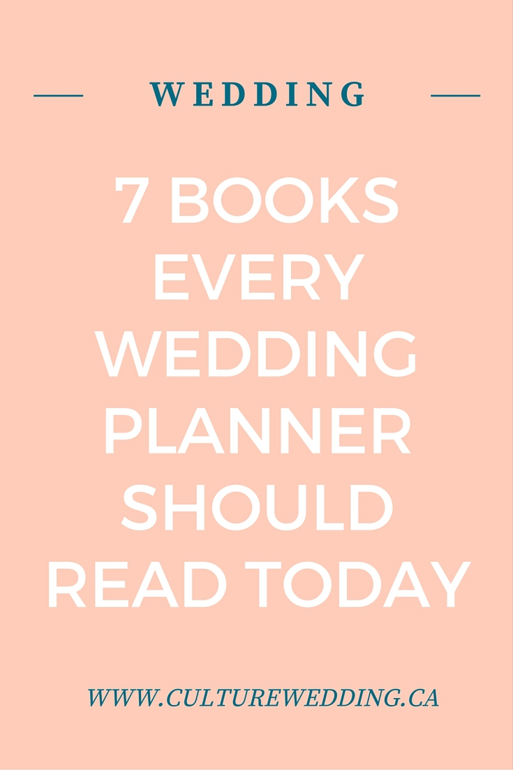 7 Books every wedding planner should read