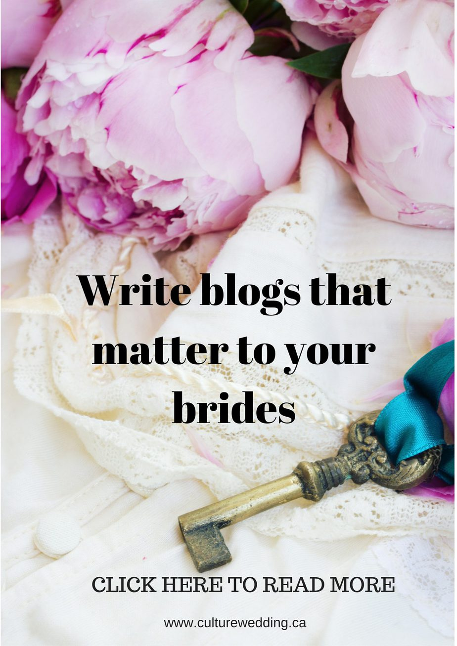 Write blogs that matter to your brides