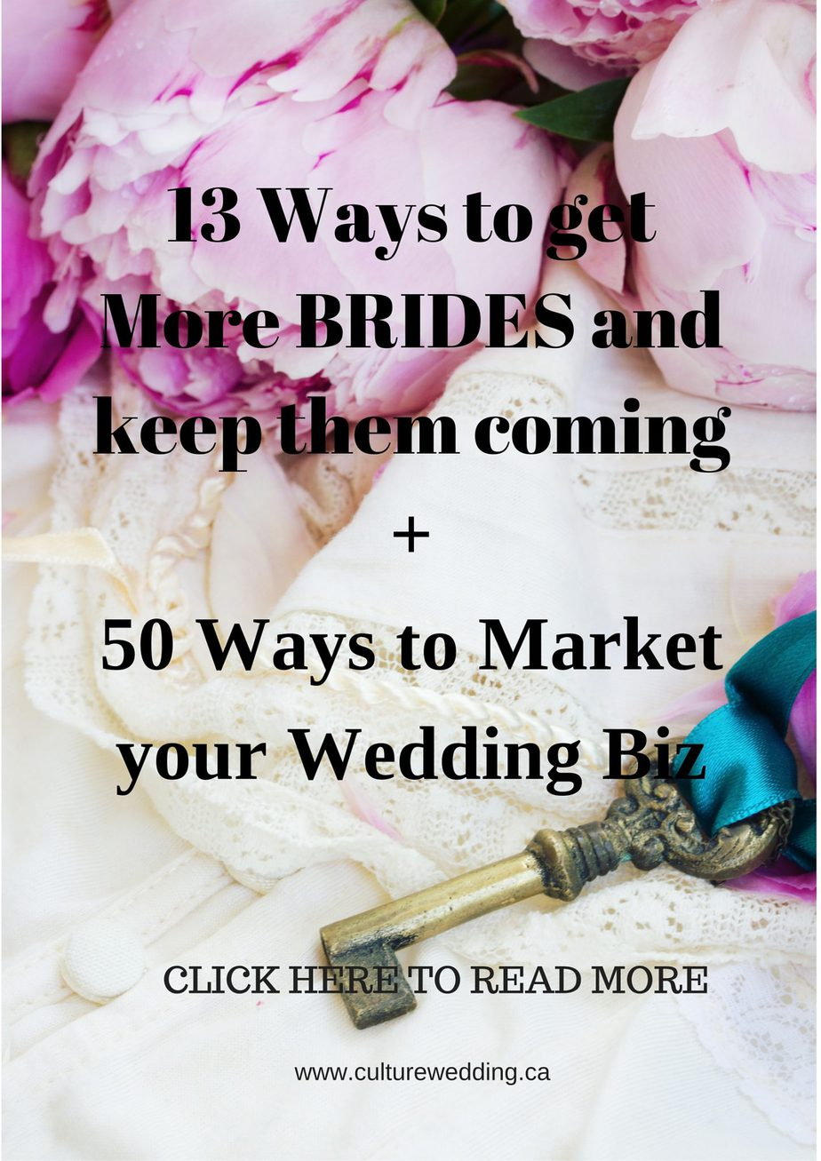 13 Ways to get more brides and keep them coming