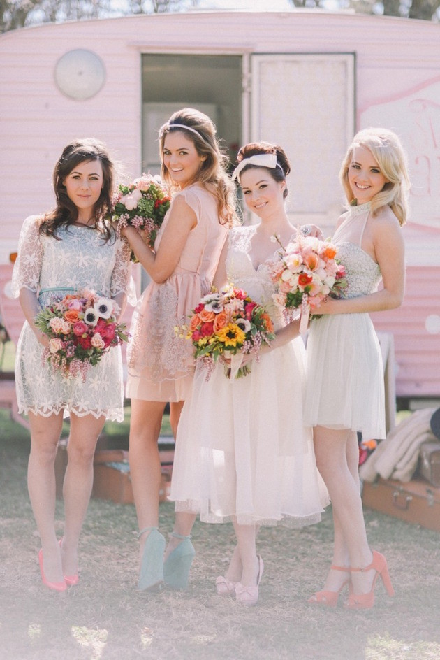 Mix and Match bridesmaids dresses
