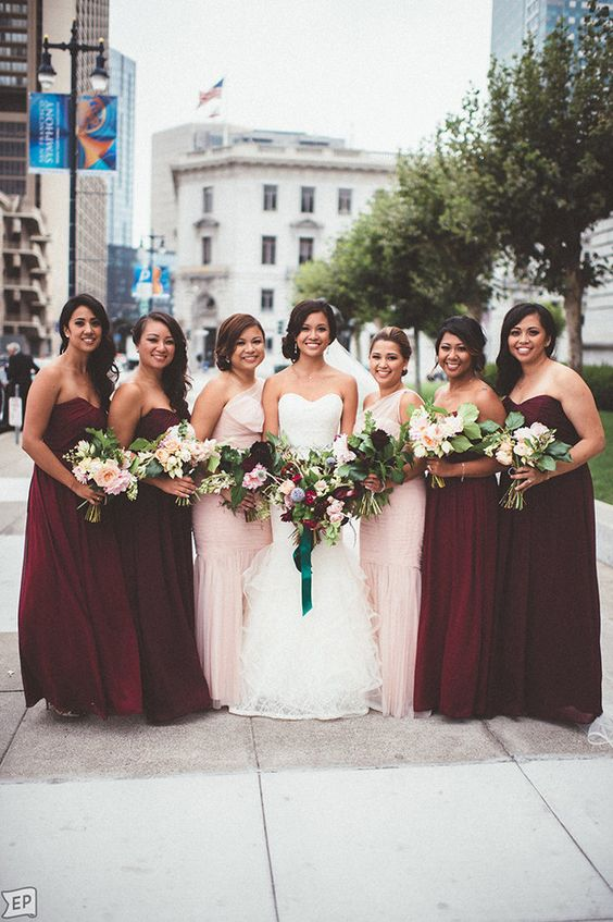 Mix and Match bridesmaids dresses 7