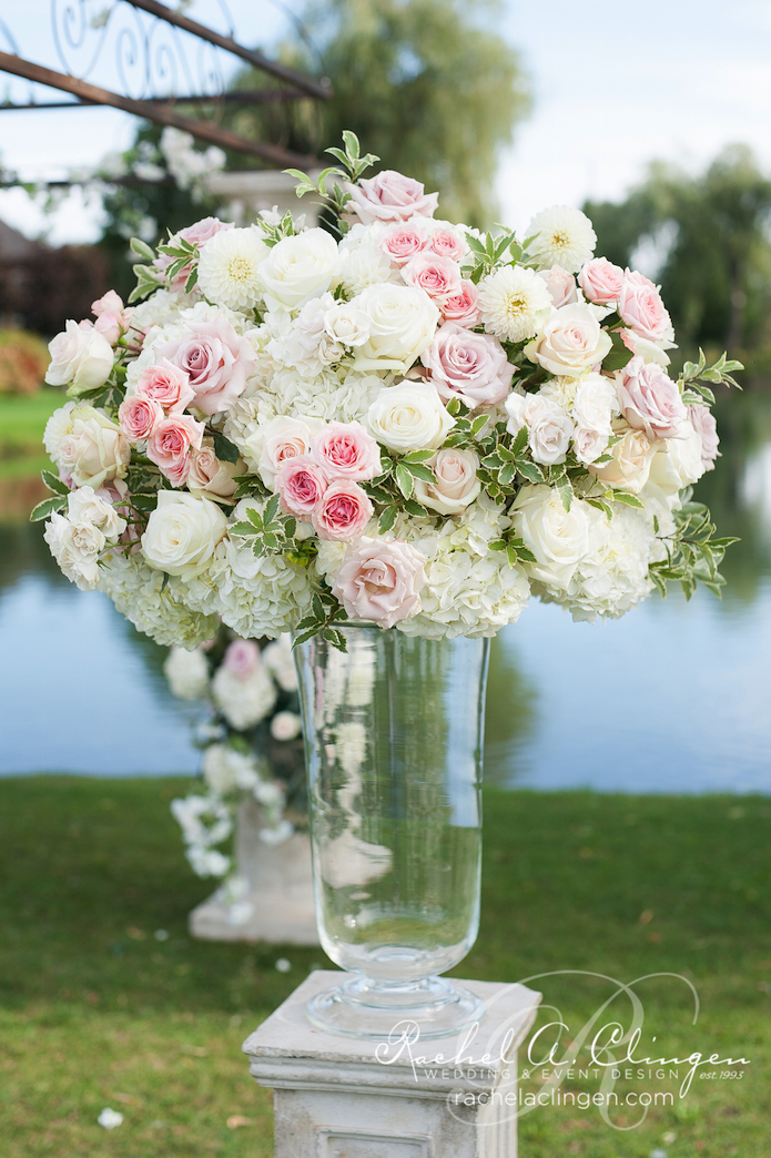 Pink-Cream-Wedding-Flowers-Ceremony- Rachel