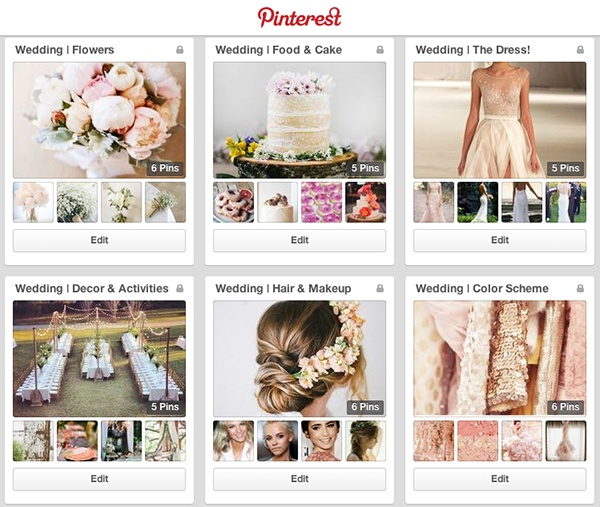 pinterest for wedding planning
