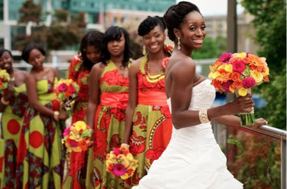 African bridesmaids dresses 1