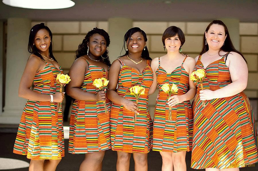 afdbda225ba 5 African traditional bridesmaids dresses that nailed it
