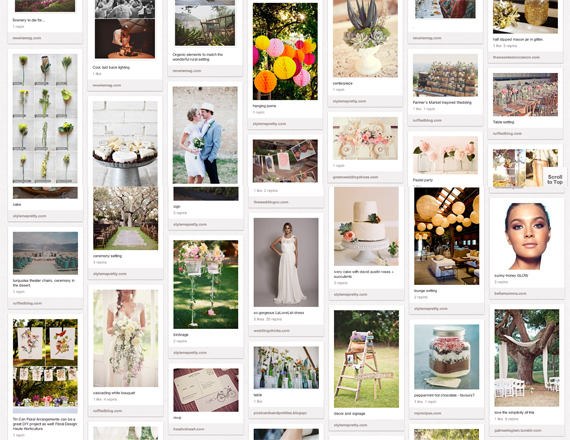 How to use Pinterest to plan your wedding