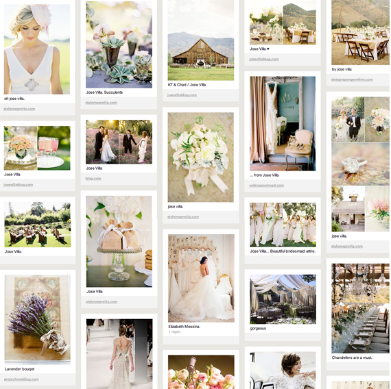 How to use Pinterest with your brides