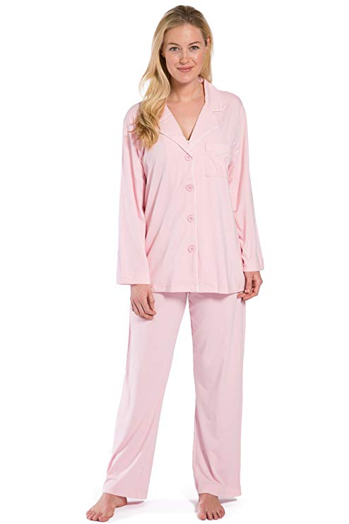 Fishers Finery Women's Ecofabric Full Length Pajama Set - Mother's day gift idea