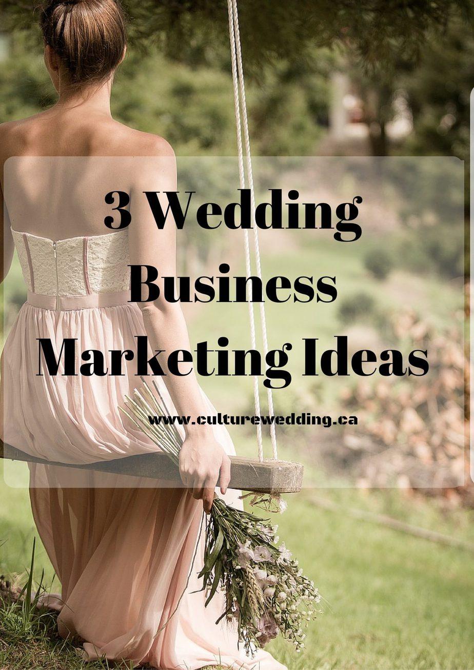 3 Wedding Business Marketing Ideas to book more brides