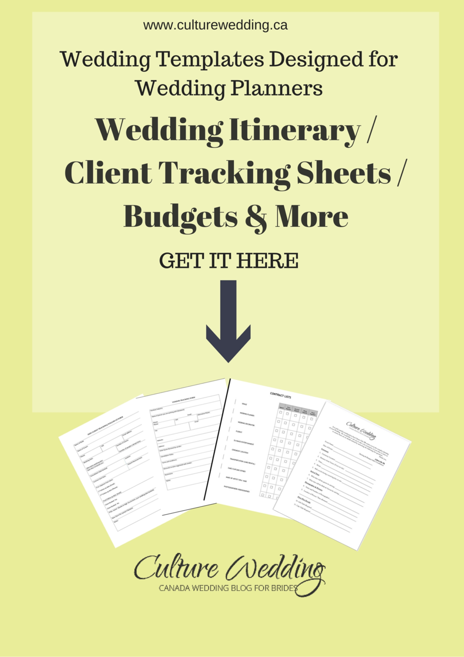Wedding Work Sheets
