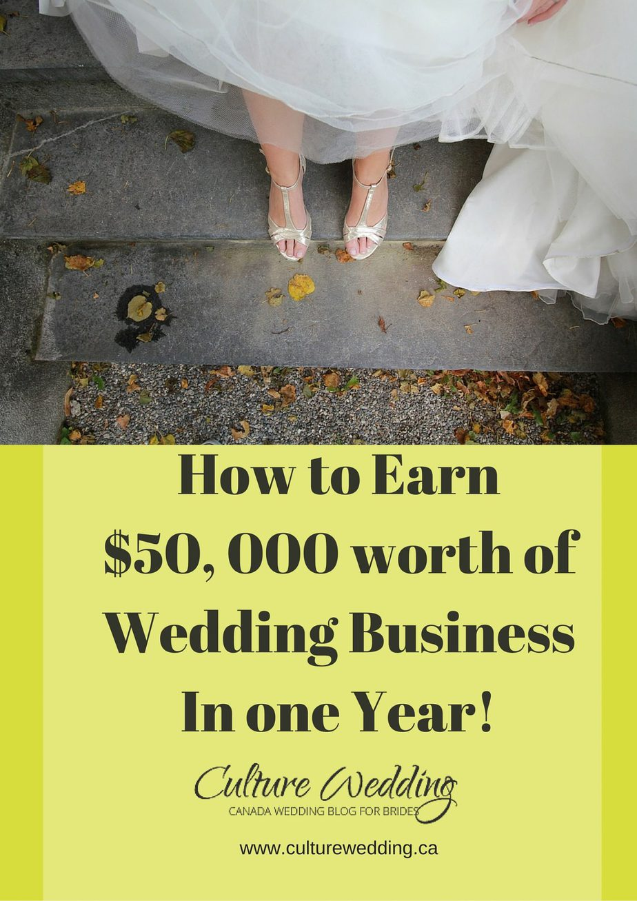 READY TO MAKE OVER $50, 000 IN WEDDING BUSINESS