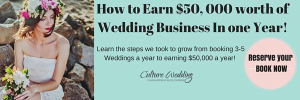 How to earn $50,000 worth of wedding season