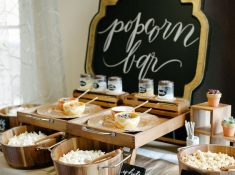 Popcorn bar Wedding