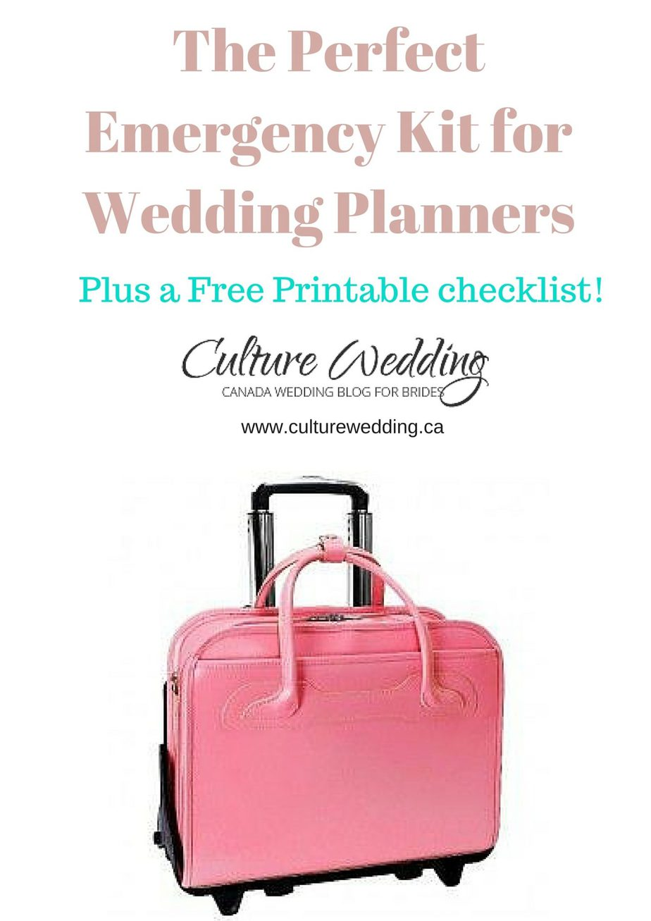 The Perfect Emergency Kit for Wedding Planners