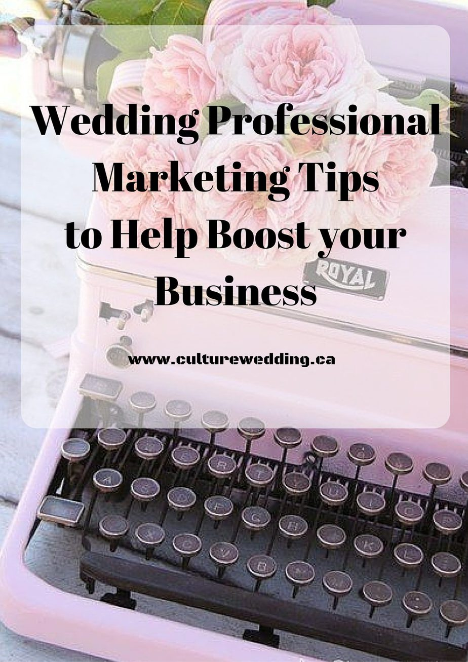 Wedding Professional Marketing Tips
