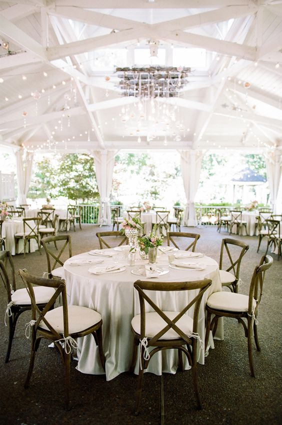 cross back wedding chairs