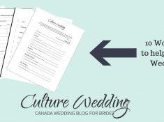 wedding planner work sheets