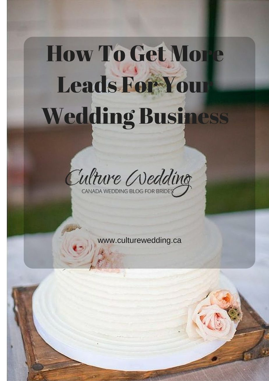 How to get more leads for your wedding business