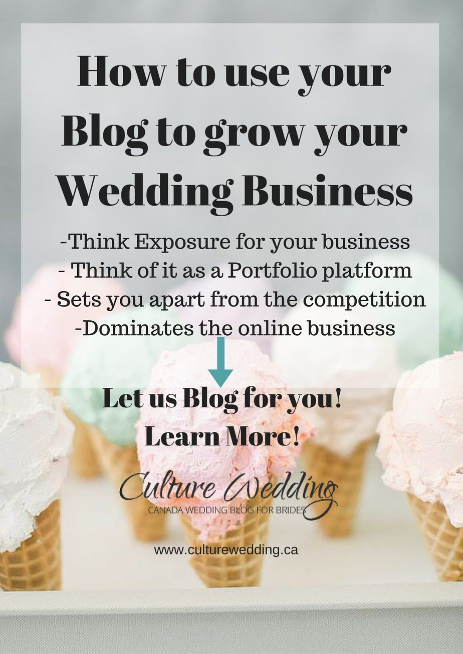 How to use your Blog to grow your Wedding Business