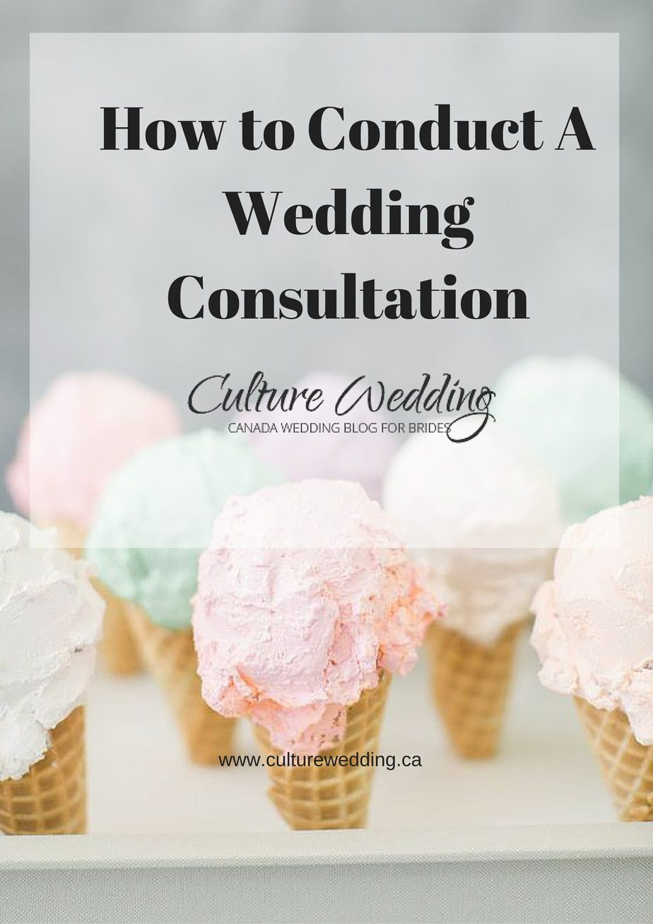 How to Conduct A Wedding Consultation