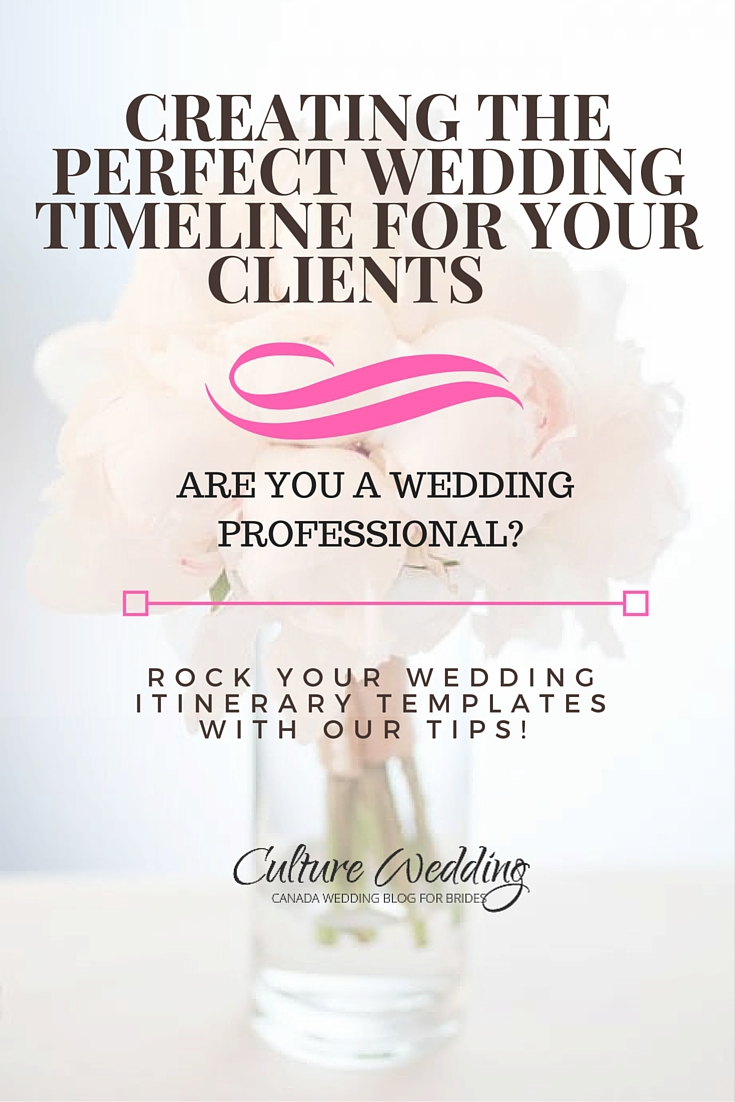 Creating the Perfect Wedding timeline for your Clients (1)