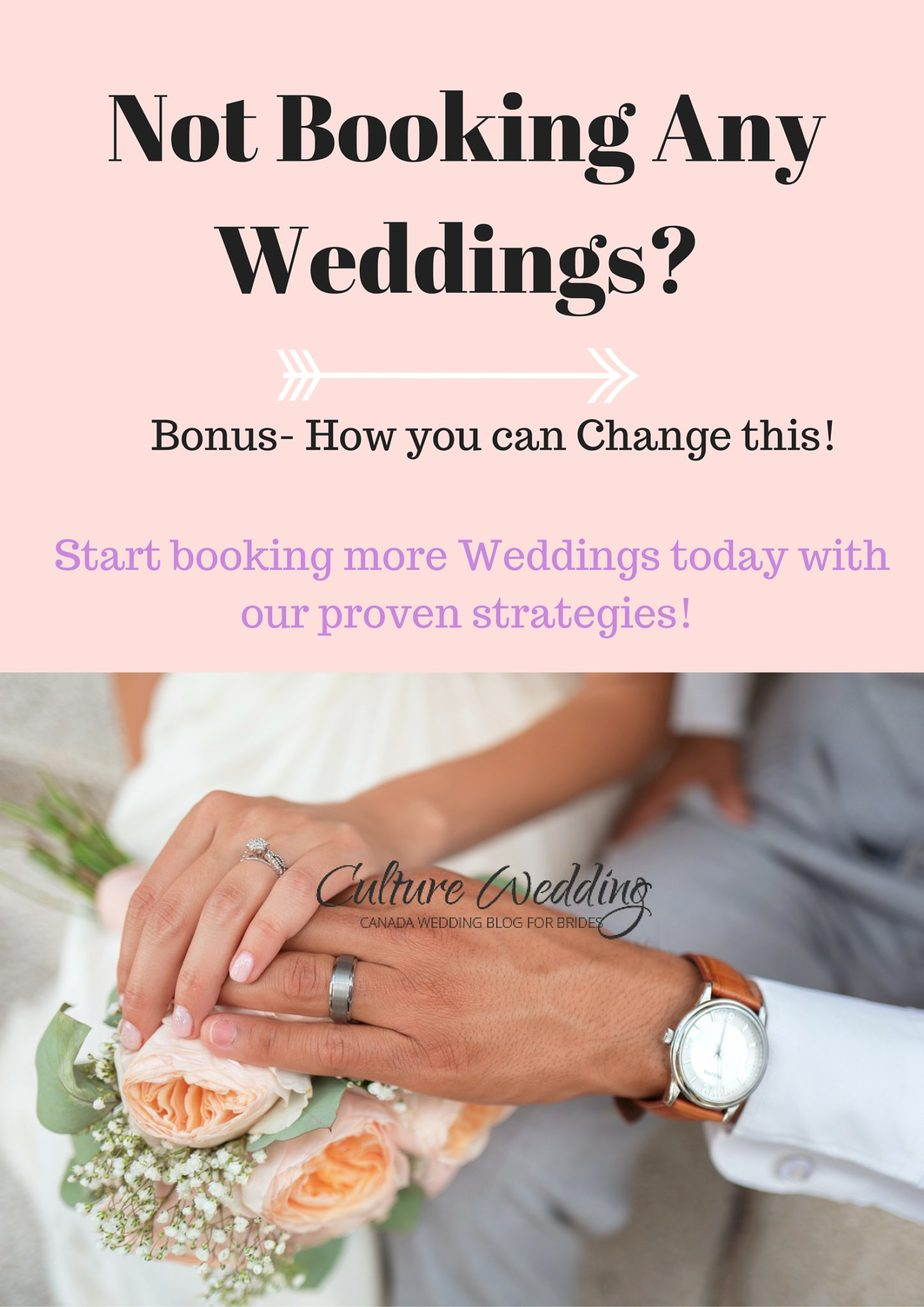 Not Booking Any Weddings? Bonus- How you can Change this!