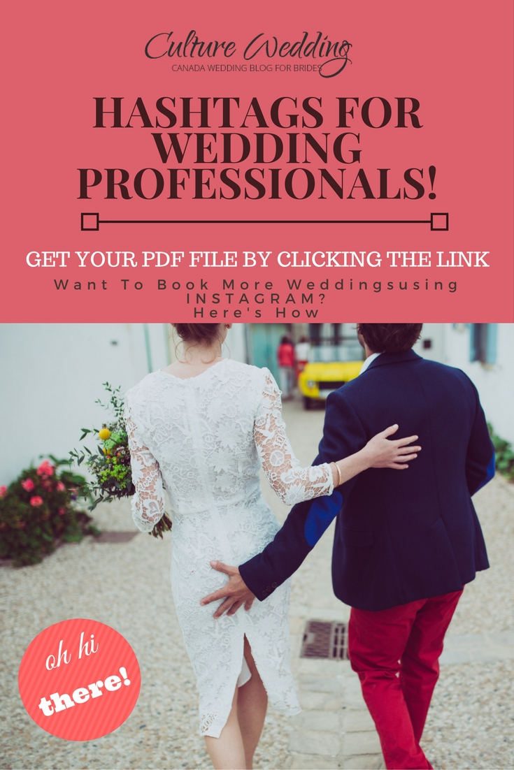 Hashtags for Wedding Professionals