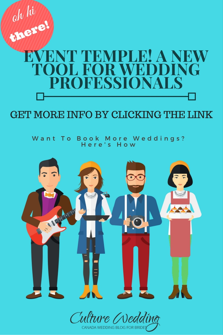 Event Temple! A new Tool for Wedding Professionals