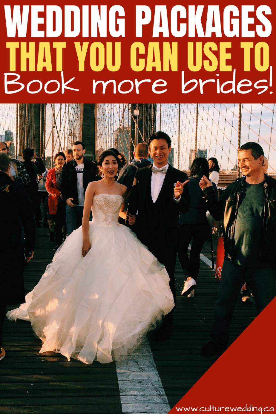 Selling wedding packages that you can use to book more weddings. We encourage wedding planners to looking into ways to increase wedding business!