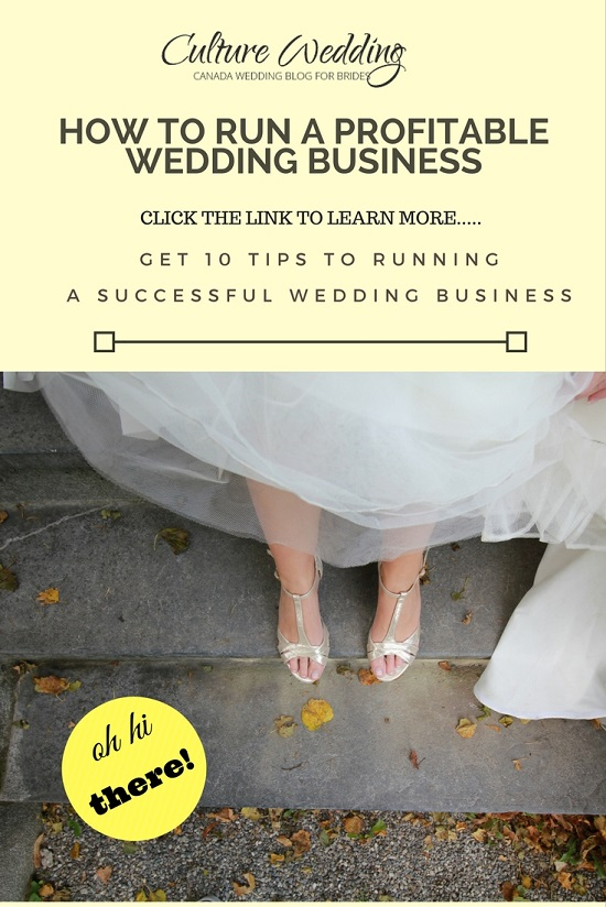 How to run a Profitable Wedding Business