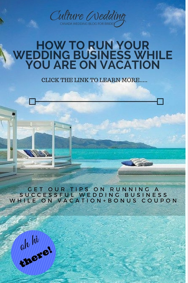 How to run your wedding business while on vacation