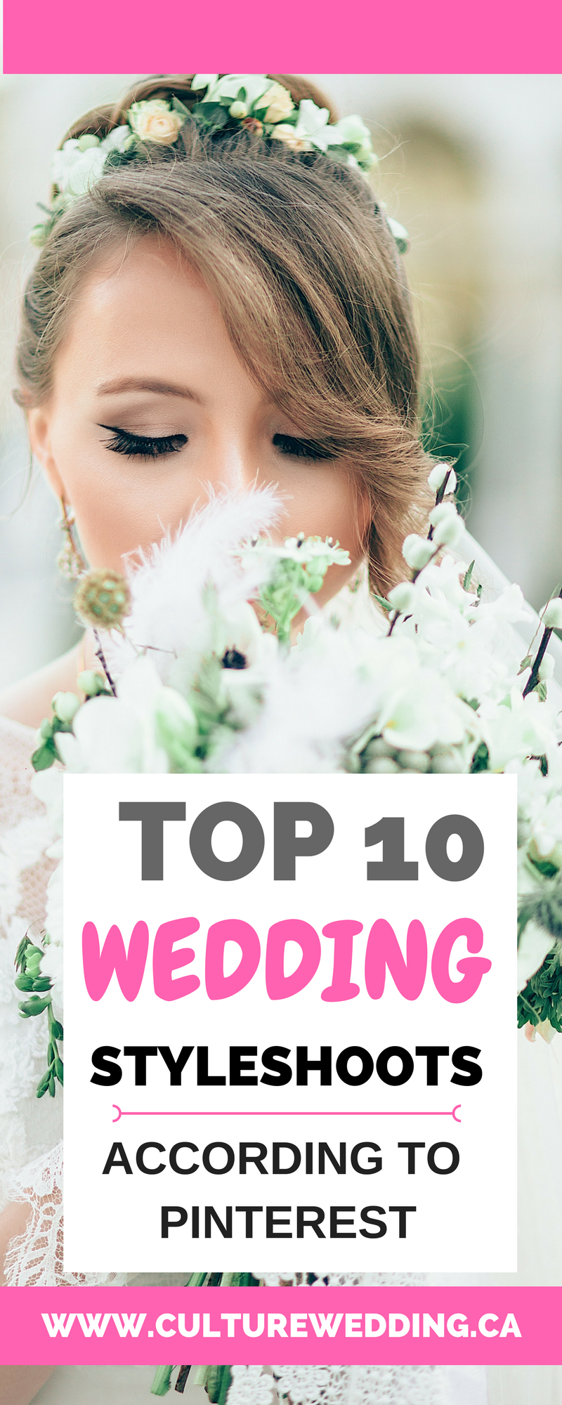 Top 10 wedding style shoot according to Pinterest