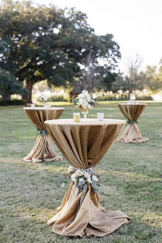Outdoor cocktail wedding ideas