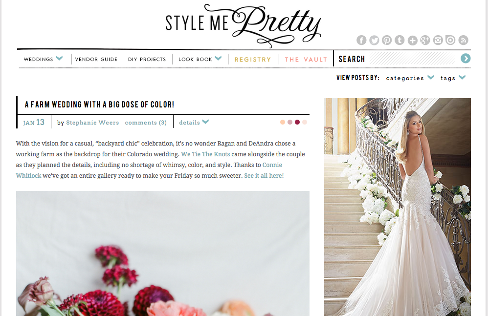 Style me pretty Wedding blogs