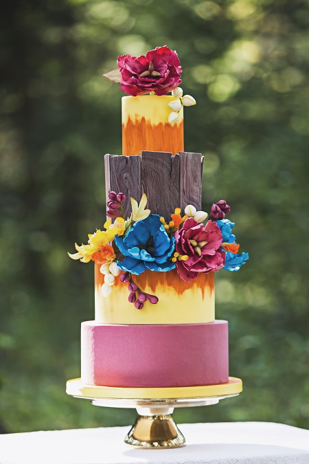 Wedding cake inspiration for a rustic wedding