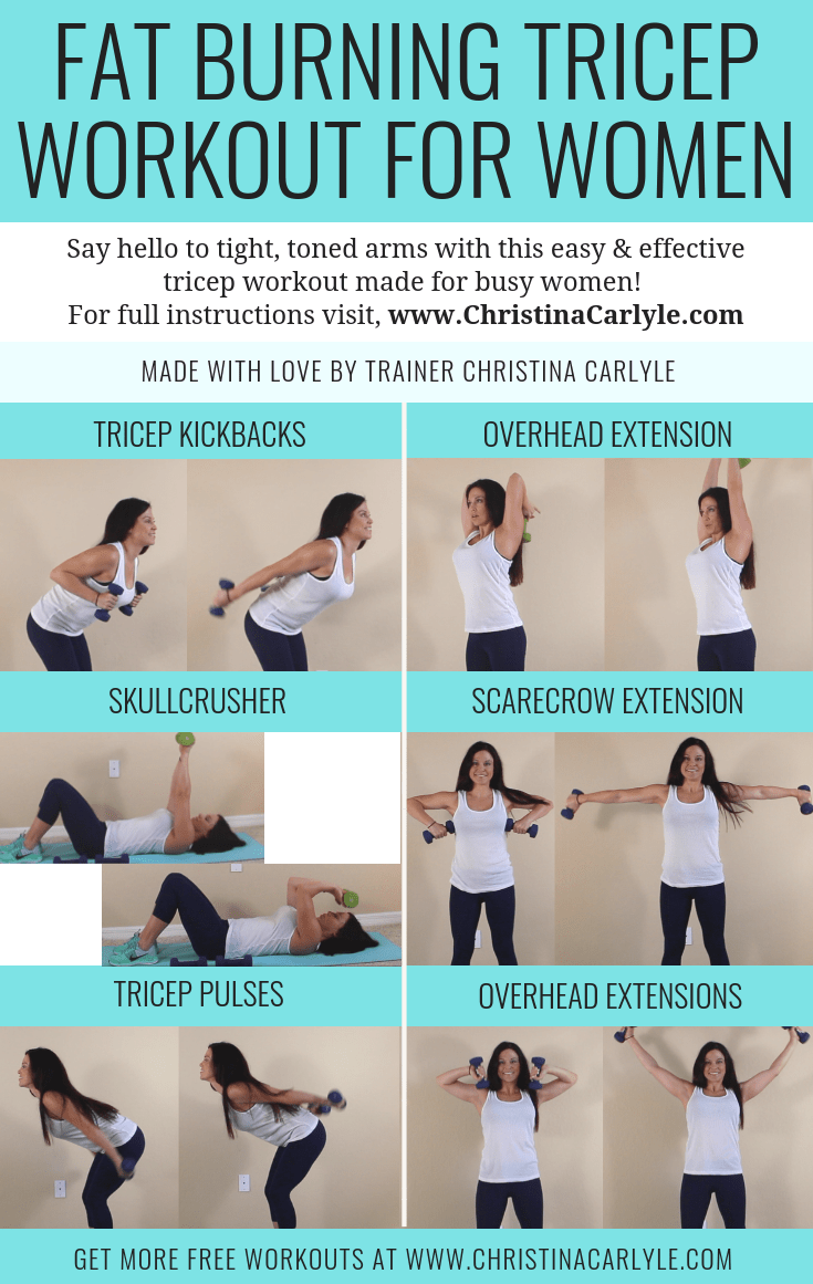 Check out these tricep workout for women at home! your triceps are one of the first muscles to show definition after starting a weight training program. Would you like to go sleeveless confidently with sexy, defined arms? You are in the right place! I find that most people struggle to get noticeable results when training their arms because they don't know how to train their triceps properly. To help you out I put together a tricep workout for women and training video that will help you get results quickly.