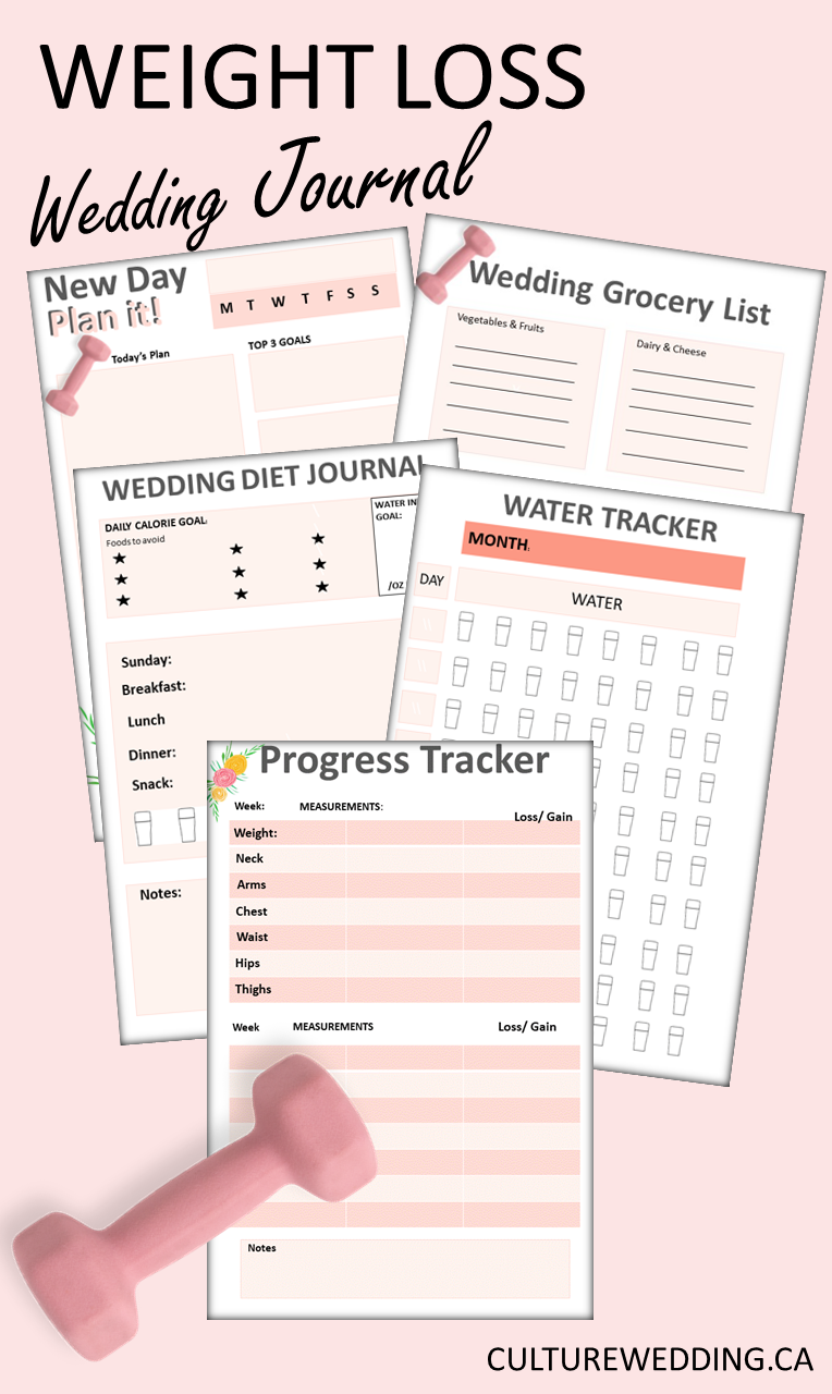 Grab this wedding weight loss journal if you are looking to lose weight before your wedding! how to lose weight before wedding, wedding weight loss, how to lose weight, quick weight loss, wedding diet, how to lose weight without working out #weddingtips #weddingweightloss